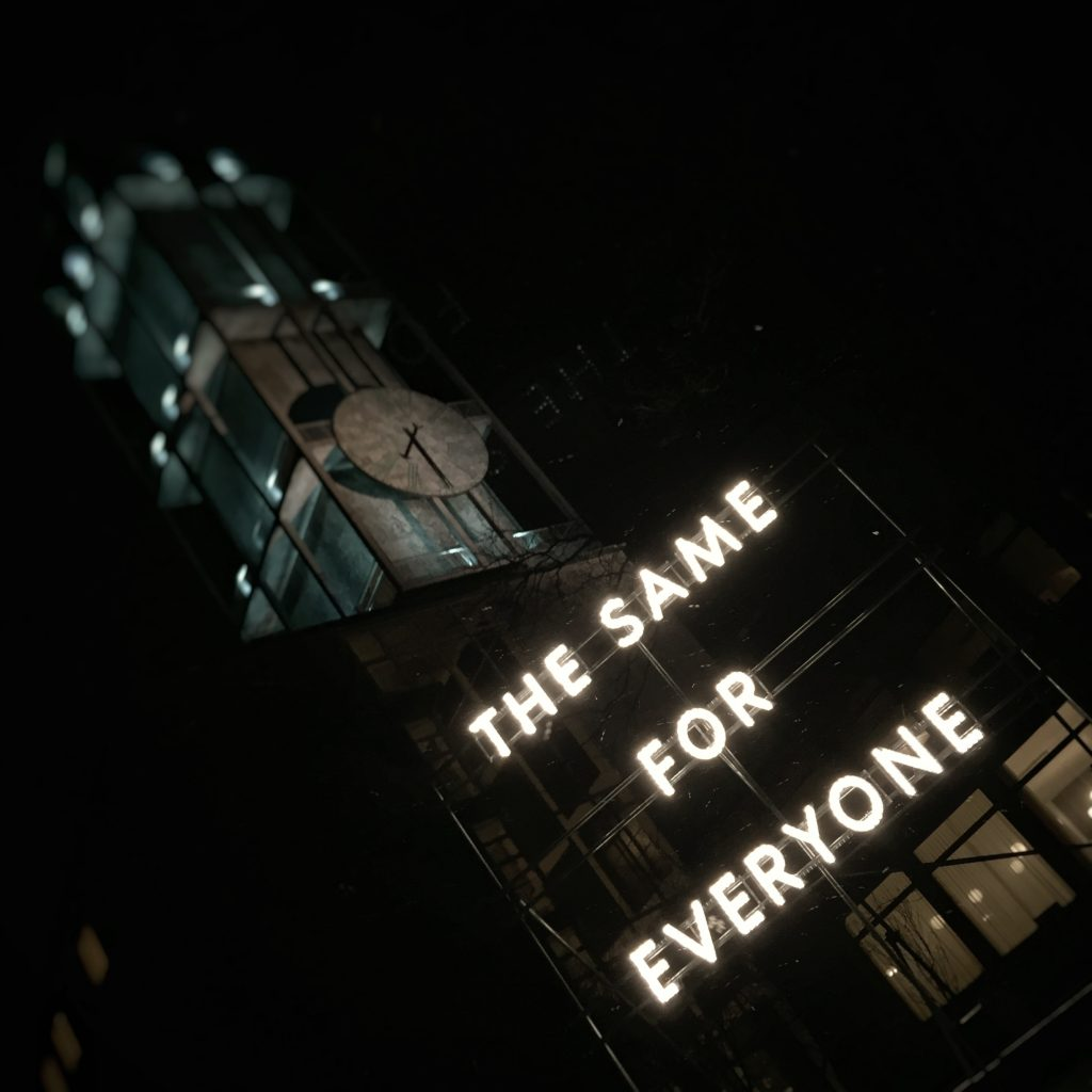 Nathan Coley - 'The same for everyone'